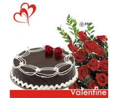 Flowers and cake in parvathipuram Chocolaty Love - for my valentine