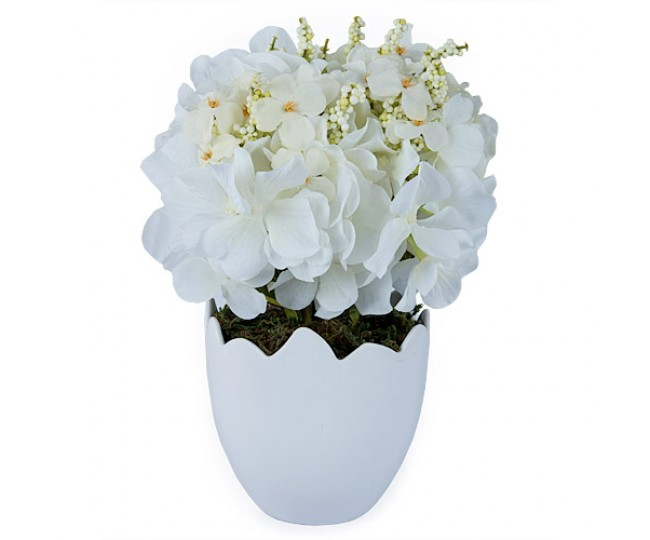 Snowdrop White Faux Flower Arrangement