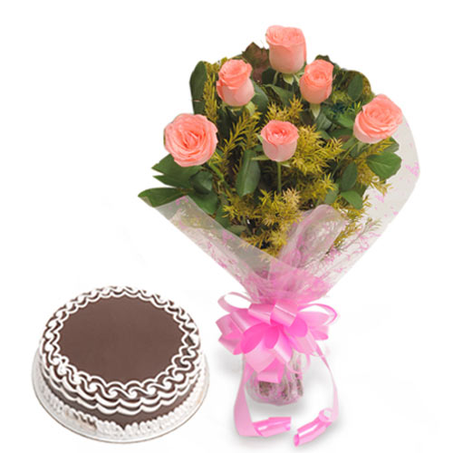 Flowers Delivery In Indore Combo Flowers Amp Cakes Gifts In
